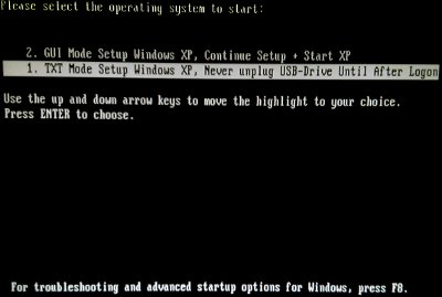 XP USB Install