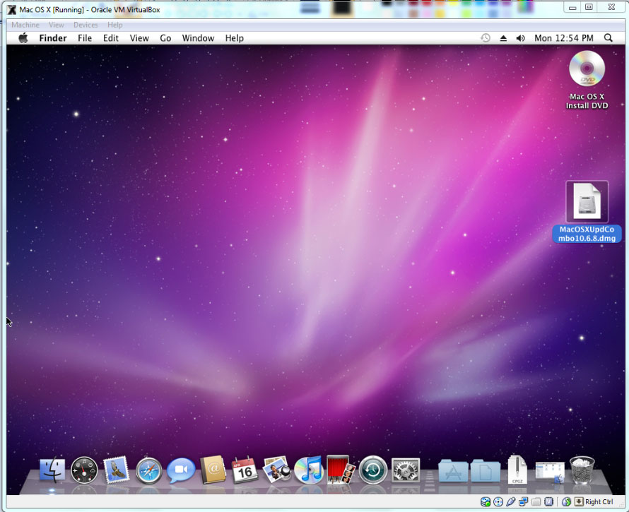 Virtualbox Mac OS X Snow Leopard Using Windows