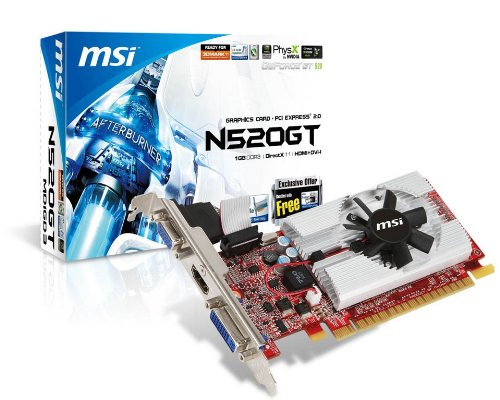 MSI nVidia GeForce GT 520 1 GB DDR3 VGA/DVI/H...