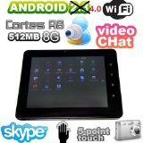 ELSSE 8″ 5-point capacitive screen TABLET PC ANDROID 4.0 – 2160p hdmi 512MB 8GB Camera WIFI