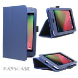 KaysCase FlipStand Leather Case Cover for Google Nexus 7 inch Tablet Android 4.1 Jelly Bean (Royal Blue)