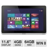 Acer Iconia W700-6691 11.6-Inch 64 GB Tablet (Silver)