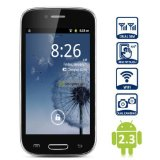 Unlocked Quadband 2 sim card with Android 2.3 OS (Android 4.1 UI) Smart Phone 4.0 Inch Capacitive Touch Screen T-mobile Simple mobile (Black)