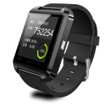 2014 Luxury U8 Bluetooth Smart Watch WristWatch Phone with Camera Touch Screen for IOS Iphone Android Smartphone Samsung Smartphone (Black)