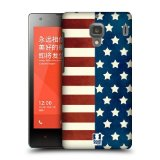 Head Case Designs Half Stars and Stripes Americana Protective Snap-on Hard Back Case Cover for Xiaomi Redmi 1S