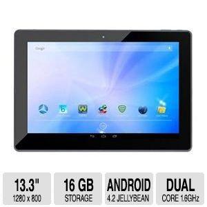 Azpen A1320G 13.3-Inch 16 GB Tablet (Black/Silver)
