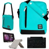 Durable Nylon Lightweight Compact Messenger Bag For Nokia N1 7.9-inch Tablet + Bluetooth Keyboard + Foldable Stand