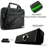 NineO Sport Nylon Shoulder Bag Carrying Case For Nokia N1 7.9-inch Tablet + Bluetooth Speaker