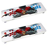 Easyget Ultra Slim Metal Double Stick Arcade Game Console – 680 Classic Games – 2 Players Pandora's Box 4S Arcade Console