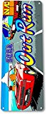 """TIN SIGN """"Out Run"""" Arcade Racing Game Room Marquee Console Metal Decor A894 #"""
