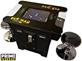 Cocktail Arcade Machine 60 Games in 1 Includes 2 Stools with Classics Games like Donkey Kong Space Invaders Frogger Burger Time and Much More Commerical Grade with Coin Op 5 Year Warranty