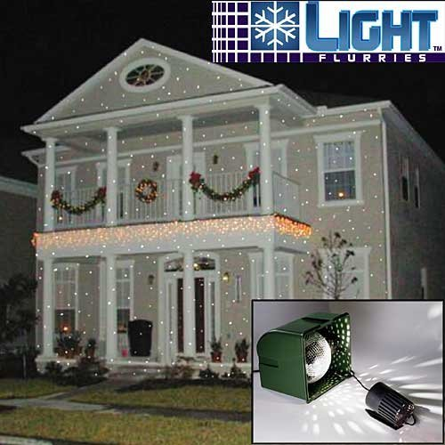 Light Flurries Magical Falling White Snowflakes Christmas Projector